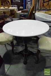 Sale 8542 - Lot 1077 - Snow White Marble Top Table (80cm Diameter)