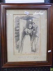 Sale 8561 - Lot 2065 - Original Ink Cartoon By Ravenhill, Signed