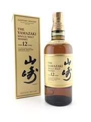 Sale 8571 - Lot 708 - 1x Suntory Whisky 12YO The Yamazaki Distillery Single Malt Japanese Whisky - 43% ABV, 700ml in box