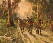 Sale 8616 - Lot 590 - Robert Camm (1847 - 1933) - A Country Road 23.5 x 29cm