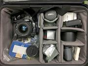 Sale 8648A - Lot 34 - Canon EOS 30 Camera with Eye Control, Sigma 24-70mm/F2.8 Zoom Lens, Canon EF 200mm/F2.8 USM L-Series 2 Lens, 2x Hoods, Canon BPE1 Ba...
