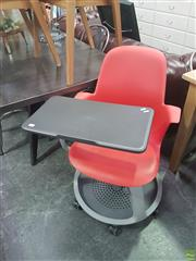 Sale 8648C - Lot 1058 - Pair of Modern School Chairs & Desk on Castors