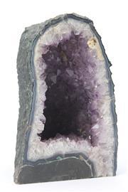 Sale 8677 - Lot 44 - Amethyst Crystal Cave (H 27cm)