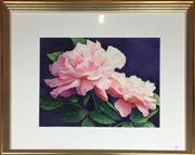 Sale 8730B - Lot 15 - Diana Fancourt De Ville - Watercolour Still Life 40cm x 30