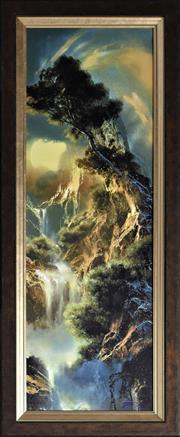 Sale 8778A - Lot 5020 - Dale Terbush - The Soft Goodbye 43 x 103.5cm (frame)