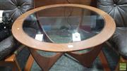 Sale 8383 - Lot 1093 - G-Plan Atmos Round Teak Coffee Table with Glass Top