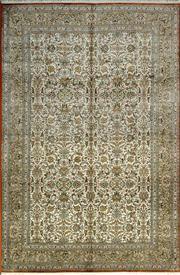 Sale 8379A - Lot 57 - A hand knotted super fine Kashmiri silk carpet. 185cm x 280cm