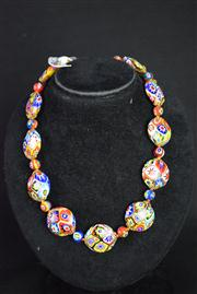 Sale 8396A - Lot 4 - Murano Glass Millefiori Necklace