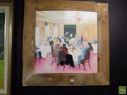 Sale 8474 - Lot 2039 - Jill Dingley (XX) - The Ladies Who Lunch, 1995 60.5 x 61cm