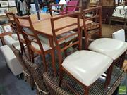 Sale 8495F - Lot 1087 - Retro Extension Dining Table with 6 Chairs