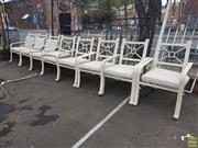 Sale 8601 - Lot 1201 - Set of Eight Metal Outdoor Chairs