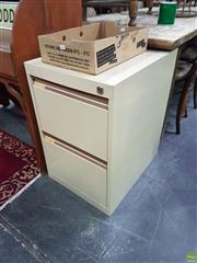 Sale 8601 - Lot 1381 - Metal Two Drawer Filing Cabinet