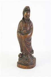 Sale 8802 - Lot 471 - Chinese Carved Figure (Height: 32cm)