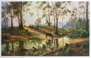 Sale 8972A - Lot 5049 - Joseph Frost (1953 - ) - Twilight Calm 44 x 76 cm
