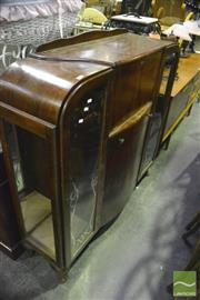 Sale 8347 - Lot 1089 - Mahogany Display Cabinet with Bureau