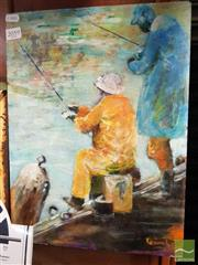 Sale 8478 - Lot 2059 - Jill Dingley (XX) - Fisherman, 1995 40.5 x 30.5cm