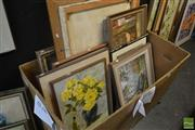 Sale 8525 - Lot 2054 - Group of (10) Assorted Original Artworks, framed, various sizes, (some damage), (box not included)
