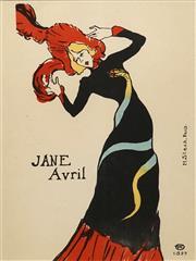 Sale 8693A - Lot 5010 - Henri de Toulouse-Lautrec (1864 - 1901) - Jane Avril, 1899 40.5 x 30.5cm