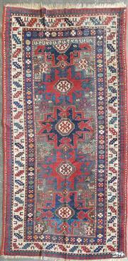 Sale 8676 - Lot 1173 - Kazak Style Wool Runner with 4.5 Star Medallions (229 x 112cm)