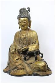 Sale 8729 - Lot 72 - Kangxi Marked Bronze Buddha