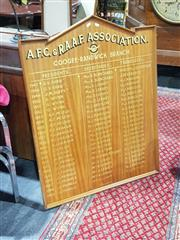 Sale 8760 - Lot 1071 - Timber Framed Honours Board