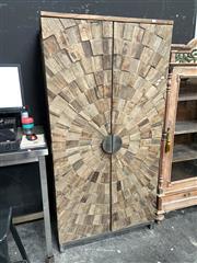 Sale 8896 - Lot 1012 - Unusual Timber 2 Door Cabinet