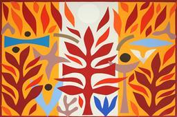 Sale 9133 - Lot 525 - John Coburn (1925 - 2006) Resurrection VIII, 1988 colour screenprint, ed. 69/99 48 x 72 cm (frame: 83 x 99 x 3 cm) signed lower right