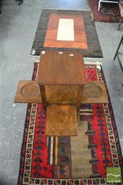 Sale 8390 - Lot 1457 - English Oak Pedestal Table w Fold-Out Trays