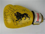 Sale 8450S - Lot 795 - Real Fighters - Lonsdale 12oz. Boxing Glove signed by Paul Gallen, Tod Carney, Billy Dib, Dane Swan, Lauryn Eagle & Candice Falzon