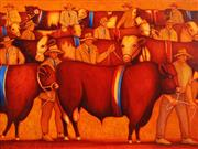 Sale 8656 - Lot 542 - Bob Marchant (1938 - ) - Grand Parade at the Show, 2009 76 x 100cm