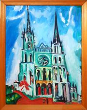 Sale 8671 - Lot 2032 - Unknown Artist - The Cathedral, acrylic on canvas board, 59.5 x 44cm, unsigned