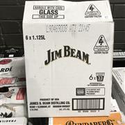 Sale 8801W - Lot 87 - 6x Jim Beam Bourbon Whiskey, 1125ml