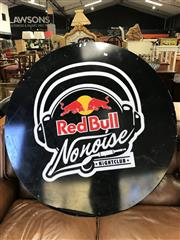 Sale 8822 - Lot 1541 - Large Round Red Bull No Noise Nightclub Sign