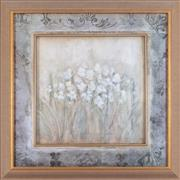 Sale 8902H - Lot 93 - Artist Unknown, White flowers in a fancy gilt and glass frame, 108cm x 104cm. Ex Coco Republic