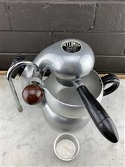 Sale 9039 - Lot 1076 - Vintage Atomic Coffee Machine with Grip and 2 Strainers