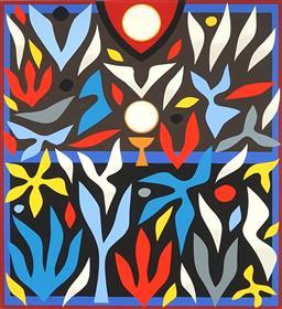 Sale 9141 - Lot 570 - John Coburn (1925 - 2006) Hosanna IX screenprint, ed. 3/99 72 x 48 cm (frame: 99 x 83 x 3 cm) signed lower right