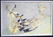 Sale 9058 - Lot 2037 - Gould - Untitled 1962, (Abstract) frame: 65 x 97 x 7 cm