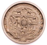 Sale 9081 - Lot 61 - An Early Chinese Bronze Mirror (Dia 12cm)