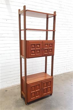 Sale 9112 - Lot 1005 - Vintage open wall unit (h:195 w:72 d:40cm)