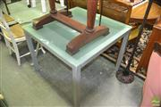 Sale 8440 - Lot 1095 - Glass Top Square Form Table