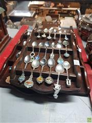 Sale 8582 - Lot 2471 - 2 Trays of Spoons