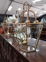 Sale 8697 - Lot 1083 - Pair of Graduated Hanging Light Fittings