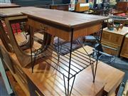 Sale 8705 - Lot 1043 - Pair of Vintage Side Tables with Single Drawer