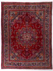 Sale 8372C - Lot 7 - A Persian Jarghoyeh From Isfahan Region 100% Wool Pile On Cotton Foundation, 390 x 292cm