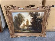 Sale 9050 - Lot 2081 - Peter Petersen Toft, Landscape, oil on canvas (AF), frame: 59 x 68 cm, signed lower right -