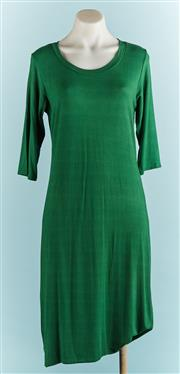Sale 9071F - Lot 47 - A GREEN ASAP ROUND NECK DRESS 3/4 length, size S
