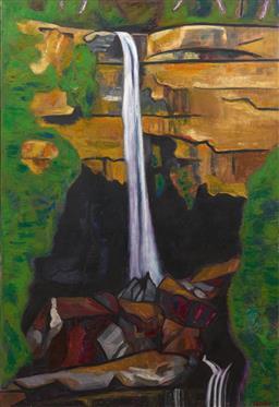 Sale 9199J - Lot 21 - Jeffrey Makin - McKenzie Falls 122cm x 84cm