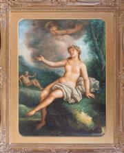 Sale 8341A - Lot 71 - European school - Venus & Cupid 80 x 62 cm