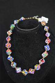 Sale 8396A - Lot 5 - Murano Glass Millefiori Necklace