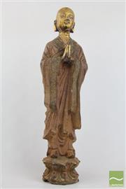 Sale 8490 - Lot 57 - Cast Iron Praying Monk